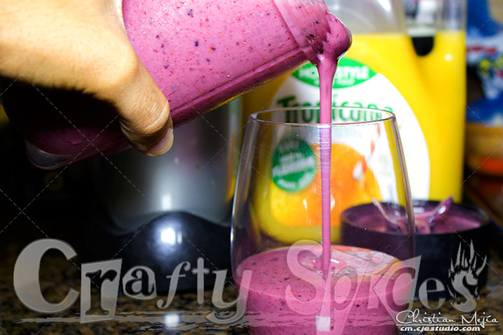 Banana-Berries Yogurt Smoothie - Serving to enjoy