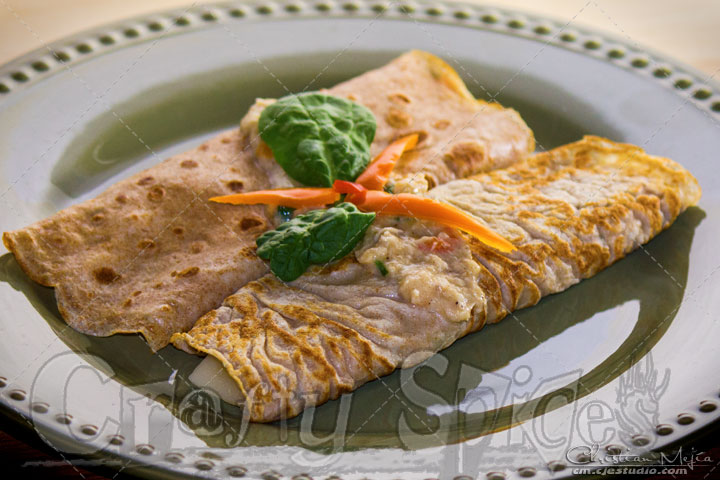 Salmon Whole Wheat Crepe