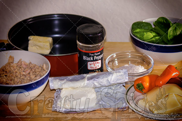 Salmon Whole Wheat Crepe - Ingredients