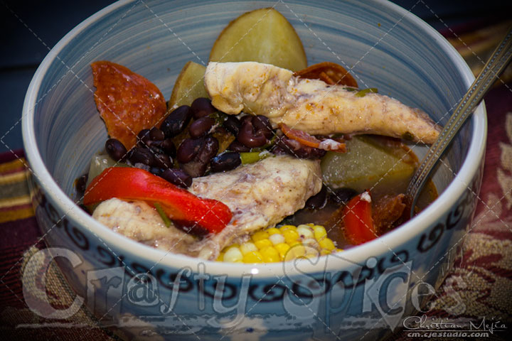Easy Crockpot Chicken, Veggies and beans recipe. Just set the slow cooker and it takes care of the rest