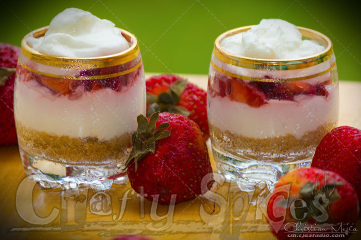 No bake Cheesecake shots, mix, refrigerate and ready...