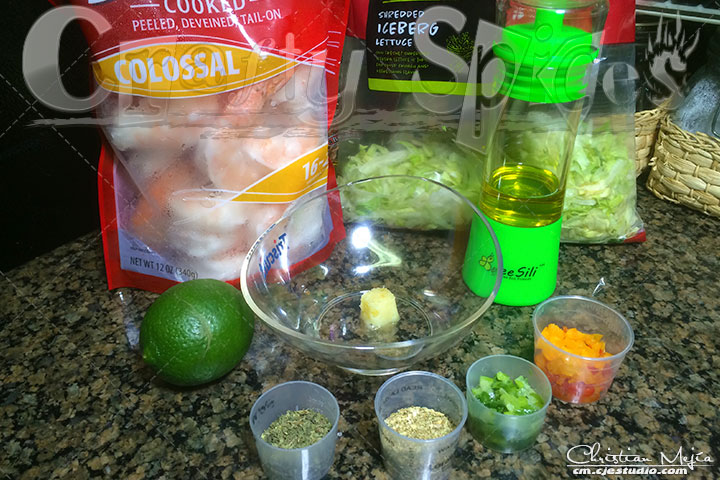 Seasoned Shrimp - Salad topper - Ingredients