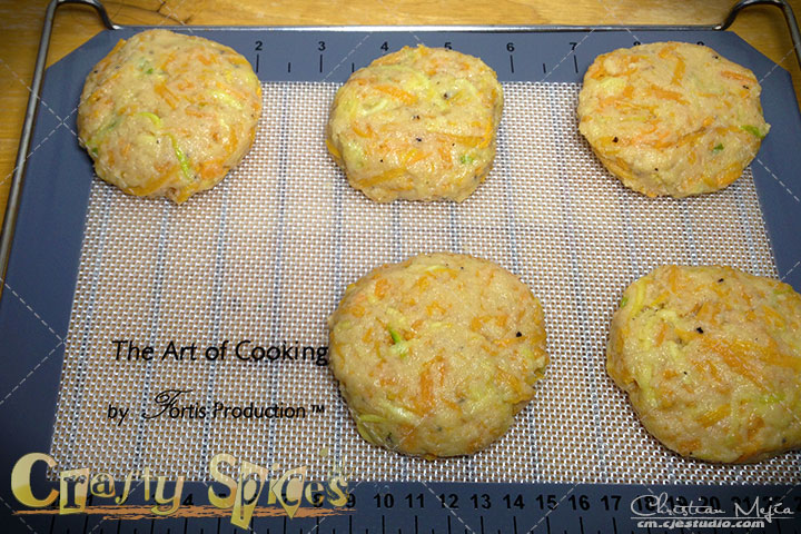 The Art of Cooking Silicone Baking Mat tested with Baked Sweet Potato-Zucchini Fritters