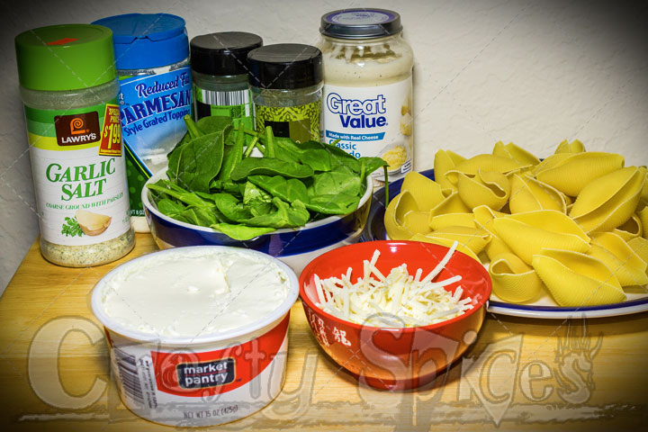 Spinach and Ricotta Stuffed Shells - Ingredients