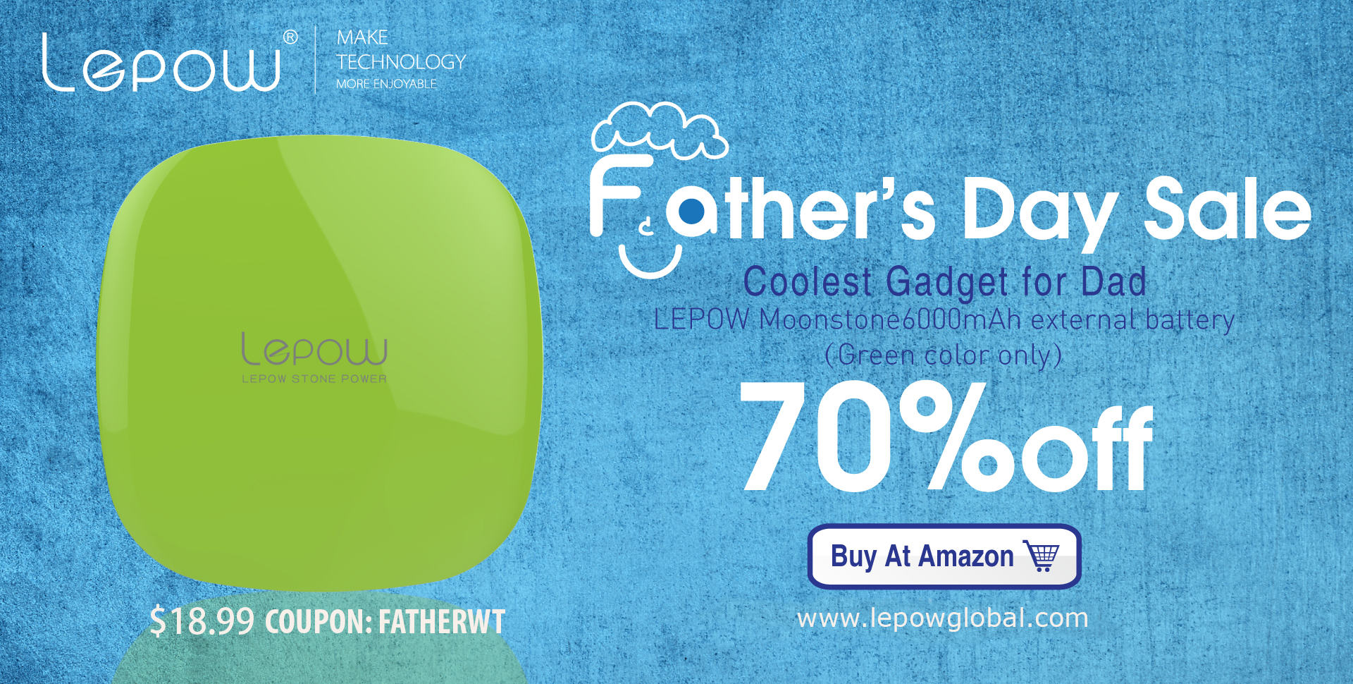 Father's Day Sale Gadget 70% Off by @LEPOWOFFICIAL
