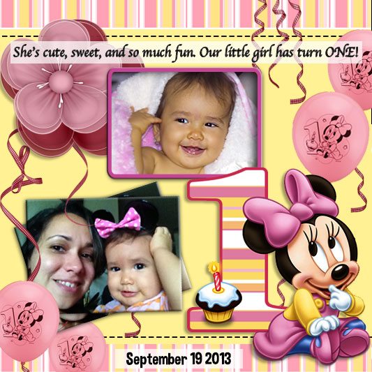 Collage for Kalee's 1st Birth Day