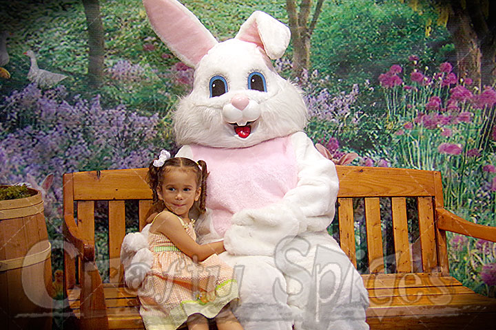 Kira with the Easter Bunny 2014