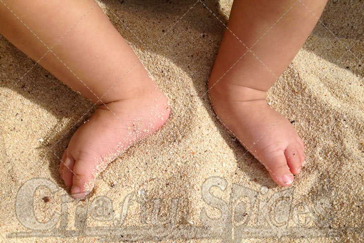 Little Feet in the Sand