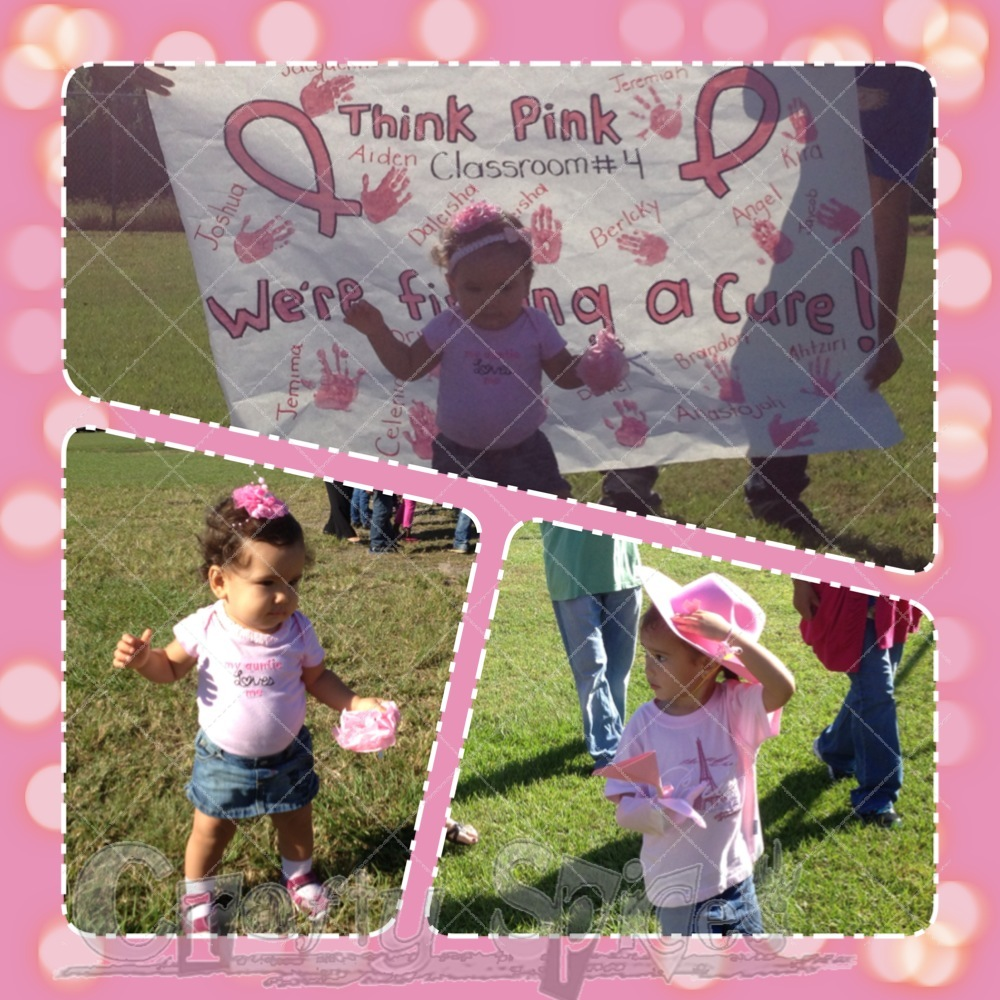 Kaylee and Kira doing the Walk for the Cure