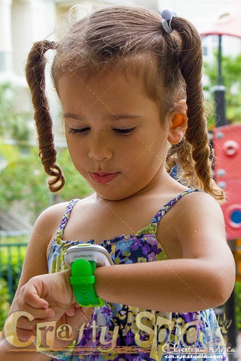 Kira with the LeapBand