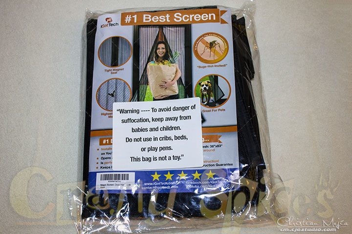 Magnetic Screen Door - iGotTech #magneticscreendoor