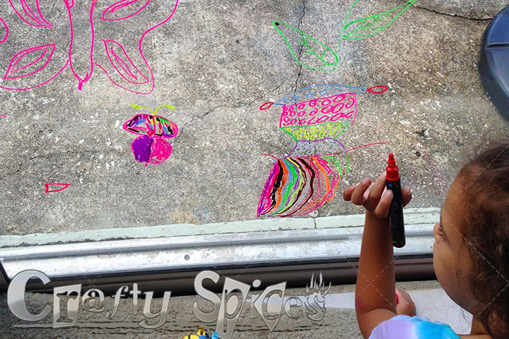 Our Big girl using the Liquid Chalk Ink Markers by ChalkOla