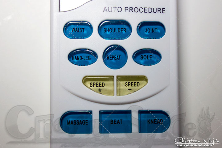 Easy@home EHE009 Pulse Massager program keys