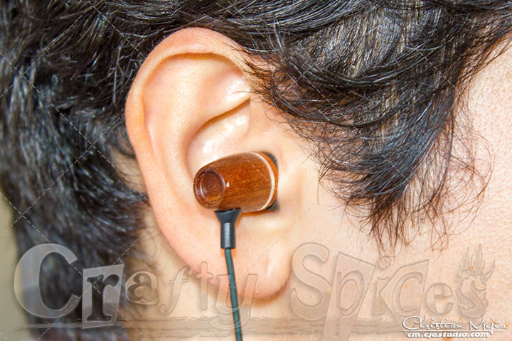 FSL Xylem Eco-Friendly Earbuds in use