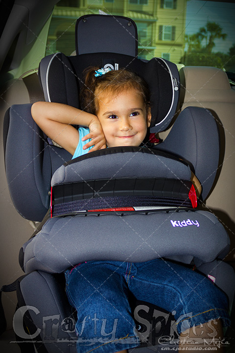 Our four year old travelling on the Kiddy World Plus Car Seat