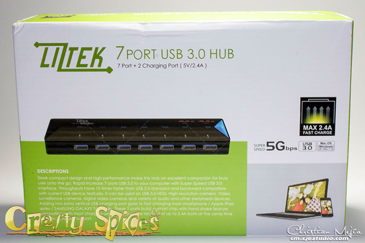 Liztek HB7-3200 USB 3.0 7-Port Hub Pack