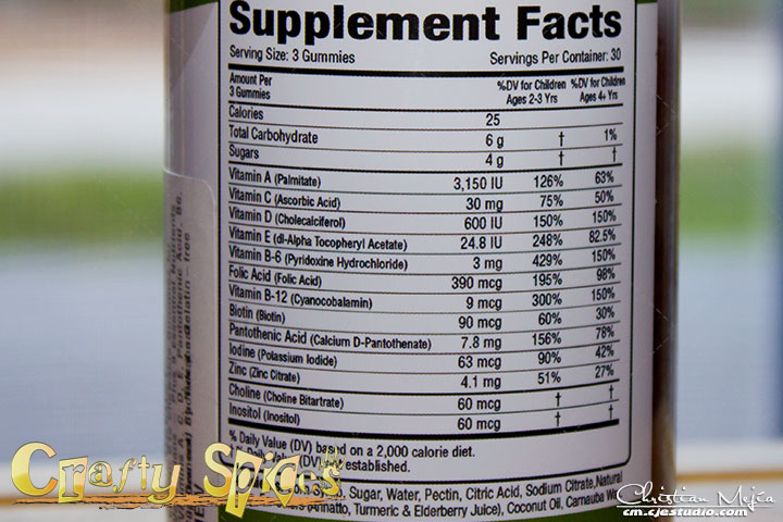 Nutrabear Vitamin B12 - Ingredients