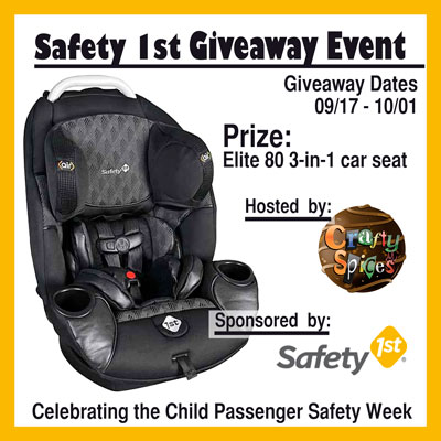 Safety 1st Elite 80 3-in-1 Car Seat Giveaway