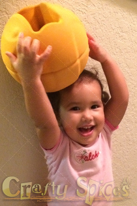 Our baby Girl happy to be playing with TheO SmartBall