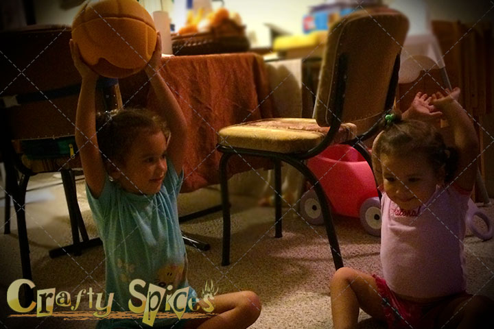 Our Girls happy to be playing with TheO SmartBall