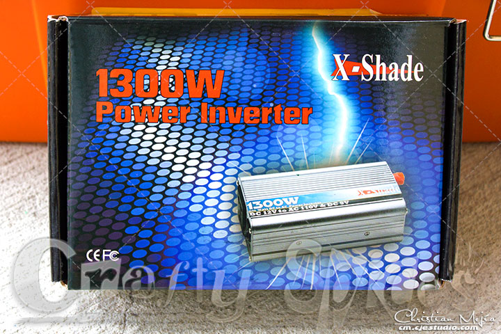 X-Shade power Inverter 1300W box