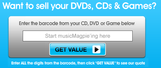 "musicMagpie ""Get Value Box"""