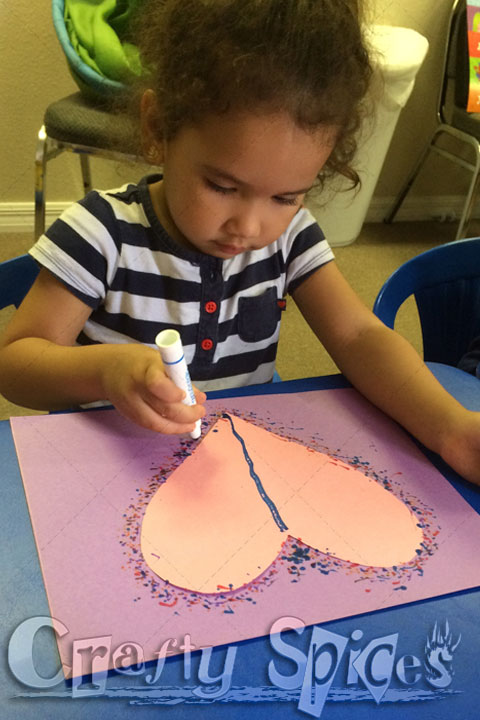 Valentines Crafts, DIY Polka-dot heart Art