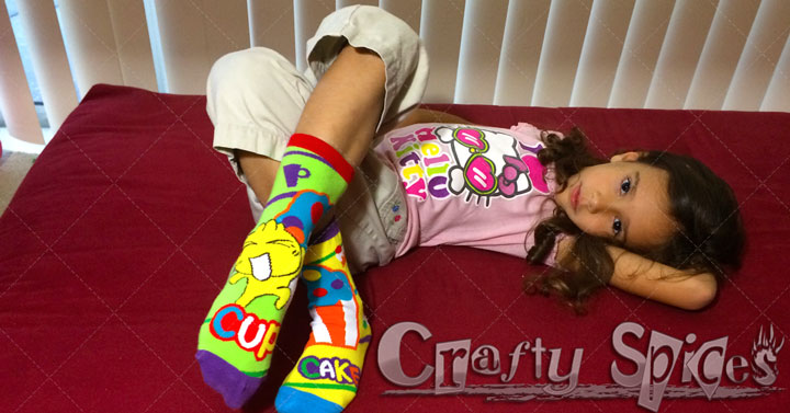 Kira with Educational Compound Word Socks